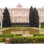 Le Palais Royal vu depuis les jardins de Sabatini